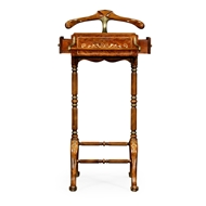 Jonathan Charles Home Burl & Mother Of Pearl Valet Stand 492443-BRW Burr Walnut Light - NC High Lustre on veneer