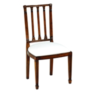 Jonathan Charles Home Dining Chair With Column Back (Side) 492464 Walnut Medium