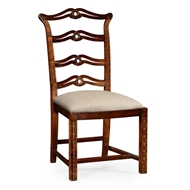 Jonathan Charles Home Chippendale Style Dining Side Chair 492468-SC-MAH-F001 Antique Mahogany Light