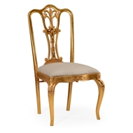 Jonathan Charles Home Gilded 18Th Century Style Dining Chair (Side) 492476-SC-GIL-F001 Antique Gold-leaf Light