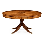 "Jonathan Charles Home 62"" Satinwood Pedestal Dining Table With Placemats"