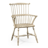 Jonathan Charles Home Grey Painted Windsor Chair (Arm) 492601-AC-PCS Painted Country Sage