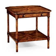 Jonathan Charles Home Rustic Walnut Two-Tier Table