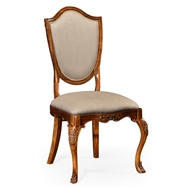 Jonathan Charles Home Upholstered Shield Back Chair (Side)