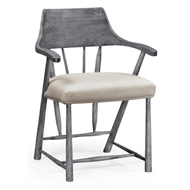 Jonathan Charles Home Walnut Dining Chair In Antique Dark Grey