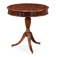 Jonathan Charles Home Walnut Drum Table 492810