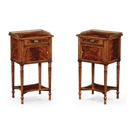 Jonathan Charles Home Pair Of Mahogany Bedside Cabinets 492822-MAH Antique Mahogany Light