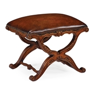 Jonathan Charles Home Neo-Classical X-Frame Stool 492841