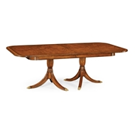 Jonathan Charles Home Regency Two Leaf Walnut Extending Dining Table 492865-88L-CWM Crotch Walnut Medium