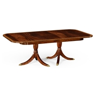 Jonathan Charles Home Regency Two-Leaf Mahogany Extending Dining Table