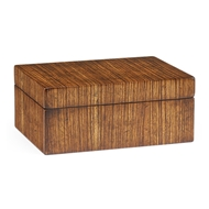 Jonathan Charles Home Exotic Zebrano Rectangular Box 492889-ZEB Zebrano Medium