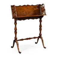 Jonathan Charles Home Victorian Walnut Floor Standing Book Trough 492996