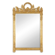 Jonathan Charles Wall Decor Empire Style Gilded Mirror 493060-GIL Antique Gold-leaf Light