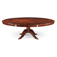 Jonathan Charles Home Mahogany Extending Circular Dining Table 493070-66D-MAH Antique Mahogany Light