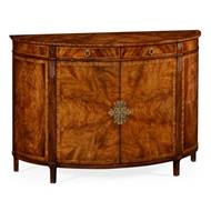Jonathan Charles Home Crotch Walnut Demilune Sideboard 493075