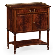 Jonathan Charles Home Mahogany Bedside Table With Brass Gallery