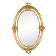 Jonathan Charles Home Neo-Classical Adam Style Mirror 493105-GIL Antique Gold-leaf Light with rub-through and mediu