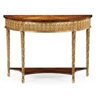 Jonathan Charles Home Gilded Console with Shelf (Small) 493208