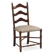 Jonathan Charles Home Oak Ladder Back Country Chair (Side) 493274-SC-WAL-F001 Walnut Medium