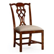 Jonathan Charles Home Chippendale Style Classic Mahogany Chair (Side) 493330-SC-MAH-F001 Antique Mahogany Light