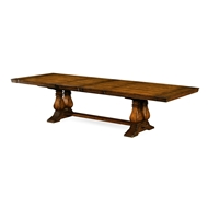Jonathan Charles Home Figured Walnut Large Extending Refectory Table 493378-91L