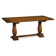 Jonathan Charles Home Figured Walnut Hunt Table 493393-72L
