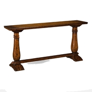 Jonathan Charles Home Large Figured Walnut Narrow Refectory Console 493414