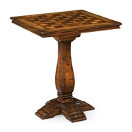 Jonathan Charles Home Country Style Games Table 493450-MFW Figured Walnut Medium