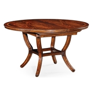 "Jonathan Charles Home 54"" Extending Mahogany Dining Table 493459-54D"