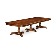 Jonathan Charles Home Mahogany Triple Pedestal Dining Table