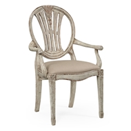 Jonathan Charles Home Hepplewhite Wheatsheaf Armchair (Grey) 493760-AC-PCS-F001 Painted Country Sage