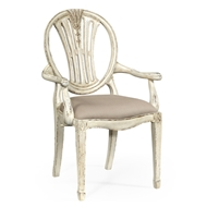 Jonathan Charles Home Hepplewhite Wheatsheaf Armchair (Off-White) 493760-AC-POW-F001 Painted Off-white