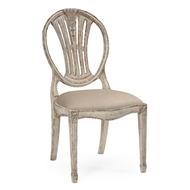 Jonathan Charles Home Hepplewhite Wheatsheaf Side Chair (Off-White) 493760-SC-POW-F001 Painted Off-white