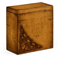 Jonathan Charles Home Raised Celtic Veneer Tall Box 493782 Walnut Light