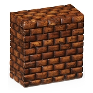 "Jonathan Charles Home Tall ""Block"" Box 493851 Walnut Medium"