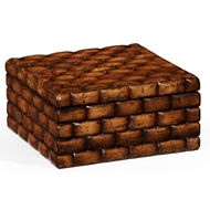 "Jonathan Charles Home Square ""Block"" Box 493852 Walnut Medium"