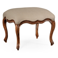 Jonathan Charles Home Medium French Provincial Walnut Footstool 493891