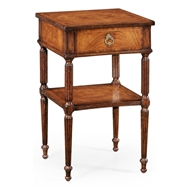 Jonathan Charles Home Regency Style Walnut Bedside Table