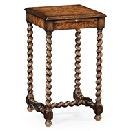 Jonathan Charles Home Walnut Lamp Table With Twisted Legs