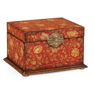 Jonathan Charles Home Red Painted Box 493987-PRF Painted Red Floral