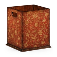 Jonathan Charles Home Chinoiserie Waste Bin (Red) 493994-PRF Painted Red Floral