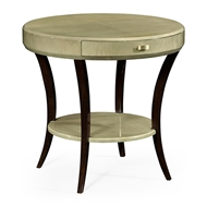 Jonathan Charles Home Opera Art Deco Round Side Table 494000-GSH Champagne Finish