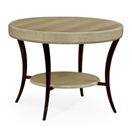 Jonathan Charles Home Opera Art Deco Centre Table 494010-GSH Champagne Finish