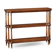 Jonathan Charles Home Antique Walnut Console On Baluster Legs 494026-WAL Walnut Medium