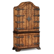 Jonathan Charles Home Spanish Style Crotch Walnut Drinks Cabinet 494057-CWD Crotch Walnut Heavy Distressed