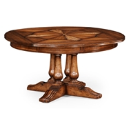 "Jonathan Charles Home 59"" Round Country Extending Dining Table 494079-59D"