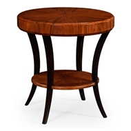 Jonathan Charles Home Art Deco Round Side Table (High Lustre)