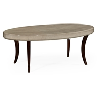 Jonathan Charles Home Opera Art Deco Oval Coffee Table