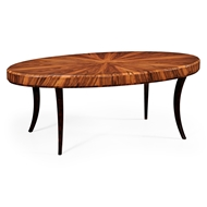 Jonathan Charles Home Art Deco Oval Coffee Table (Satin) 494139