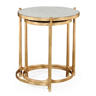 Jonathan Charles Home Glomis & Gilded Iron Round Nest Of Two Tables 494141